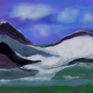 Mendenhal Glacier in Juneau Alaska
